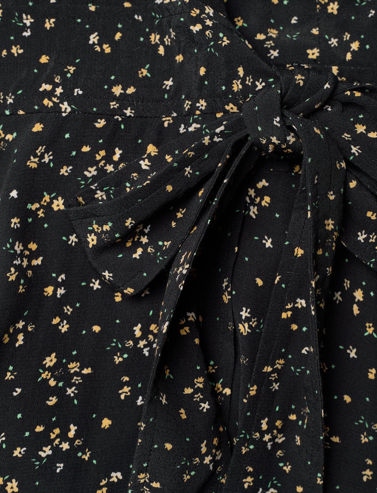 Ganni - Wrap Dress - sommerkjoler - black - 3