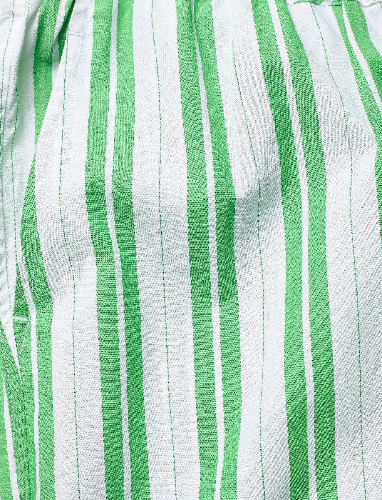 Ganni - Stripe Cotton - casual bukser - kelly green - 2