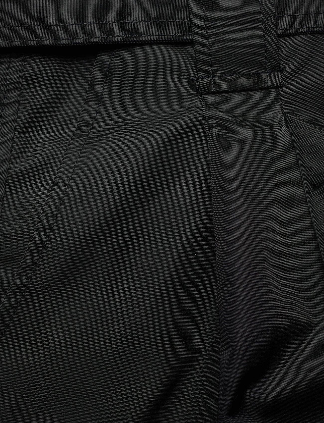 Ganni - Outerwear Nylon - paper bag shorts - black - 2