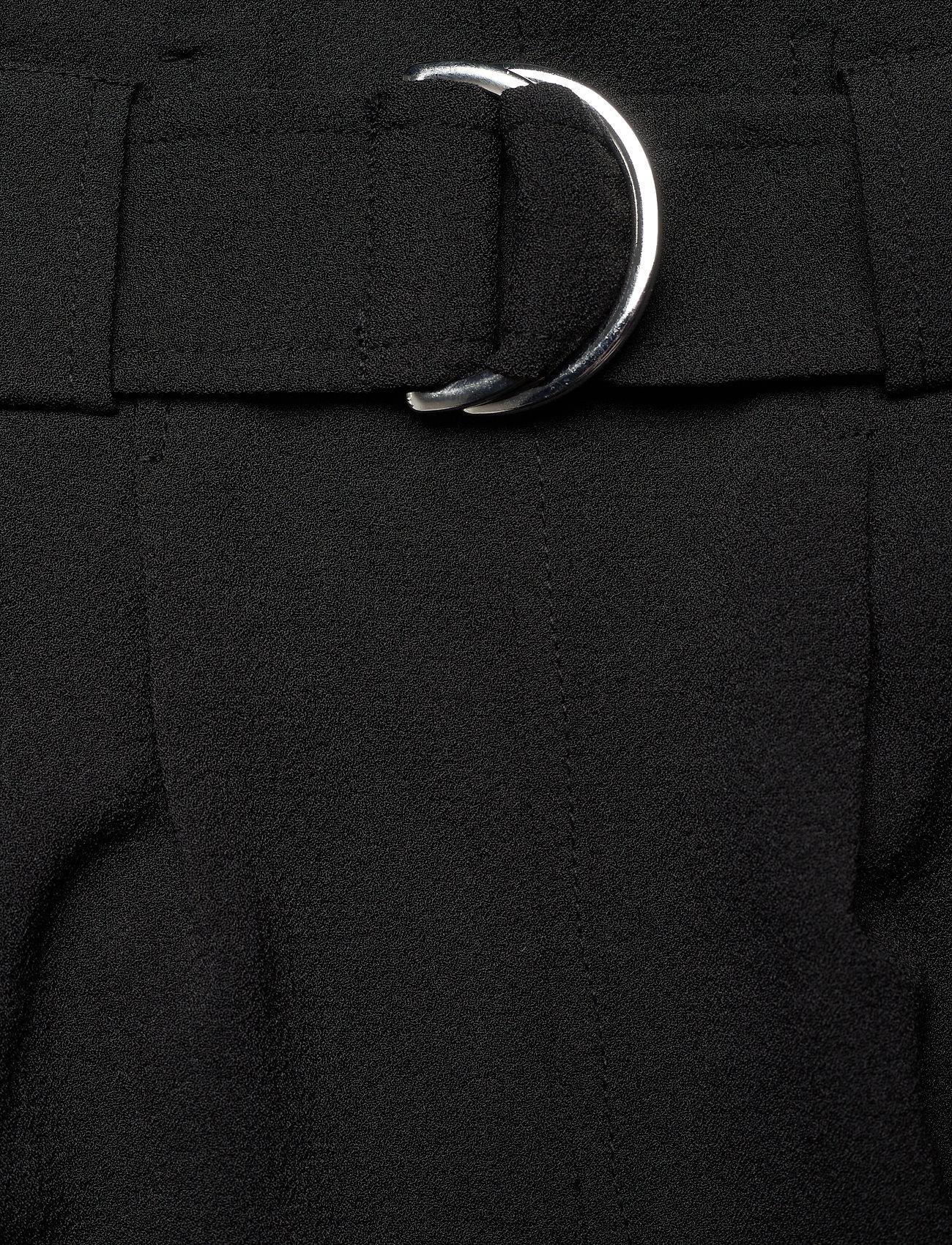 Ganni - Heavy Crepe - bukser med brede ben - black - 2