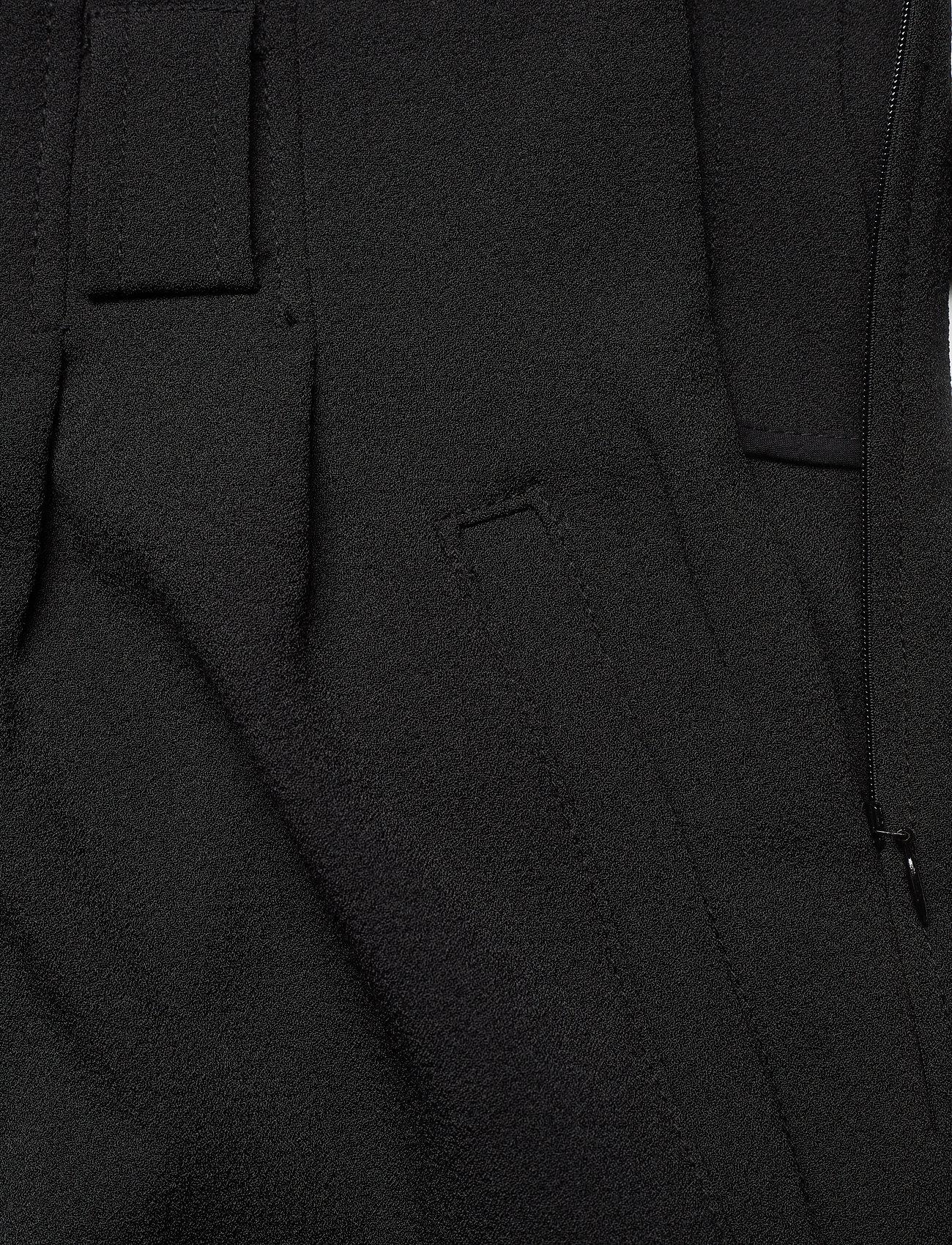 Ganni - Heavy Crepe - bukser med brede ben - black - 3