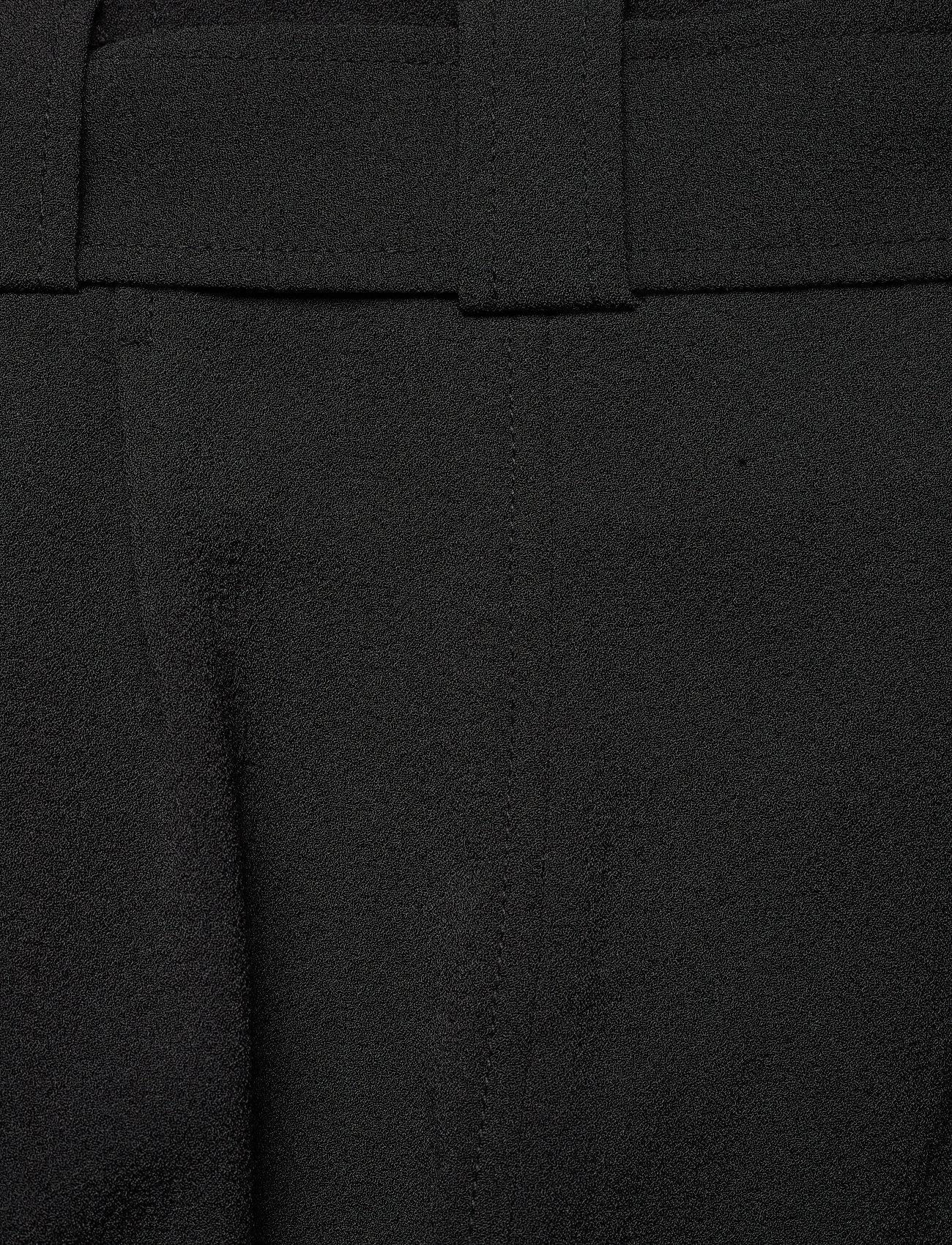 Ganni - Heavy Crepe - bukser med brede ben - black - 4