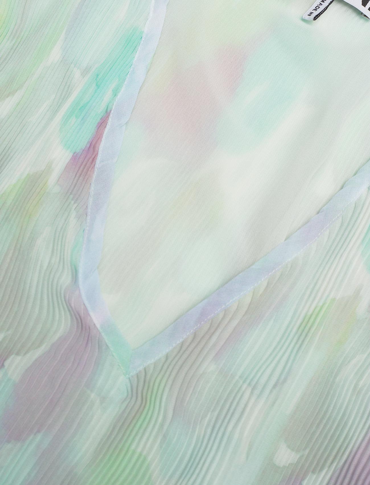 Ganni - Pleated Georgette - langærmede bluser - bright white - 2