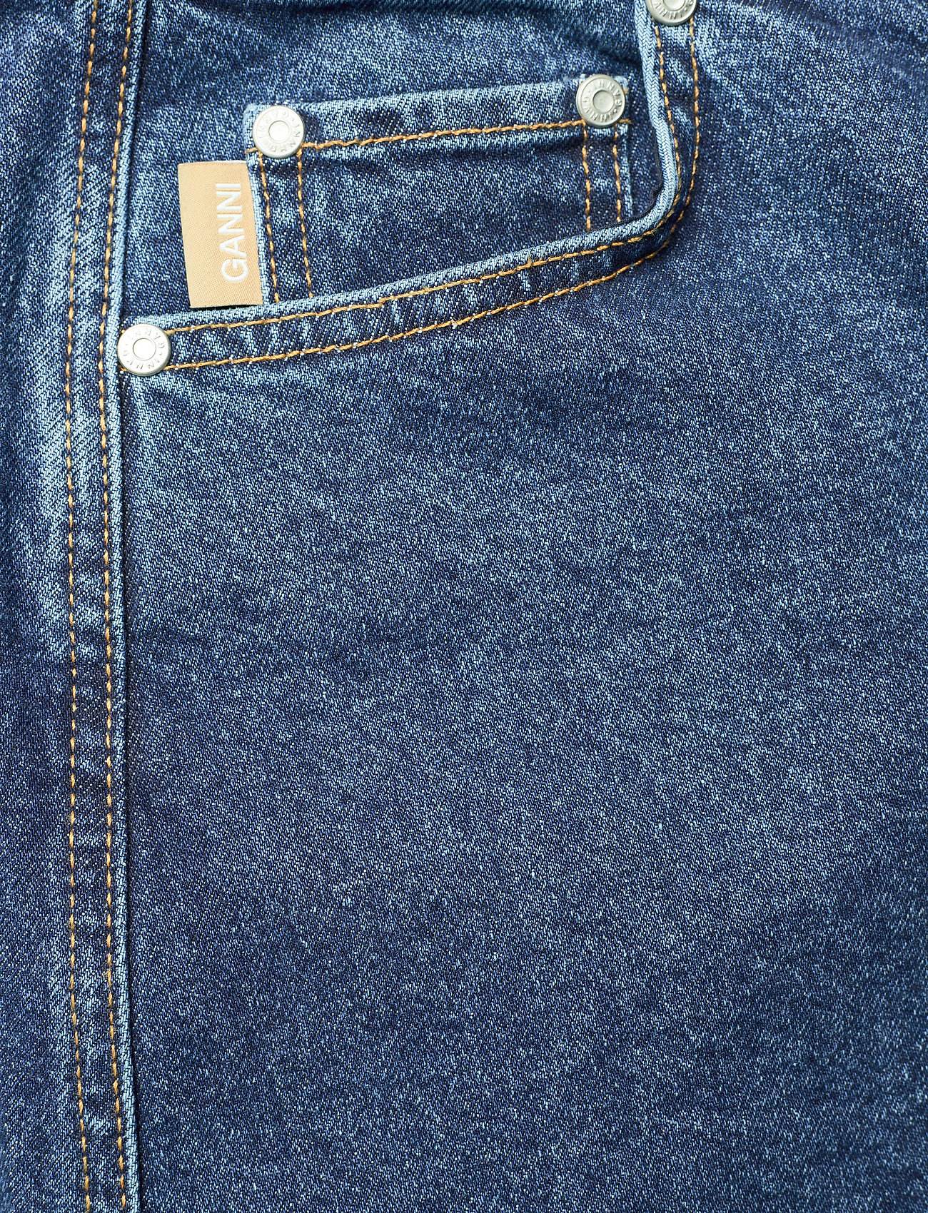 Ganni - Midi Skirt - denimnederdele - medium indigo - 2