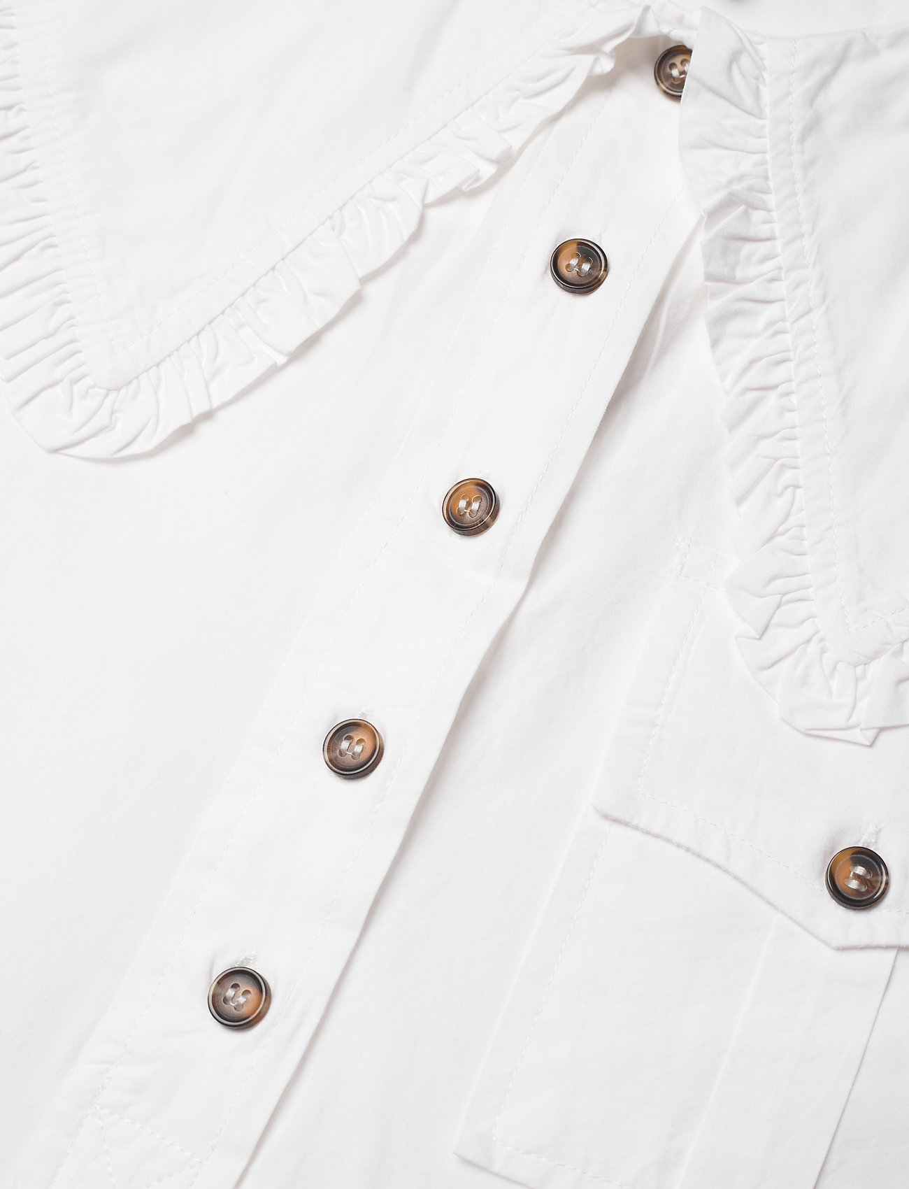 Ganni - Cotton Poplin - sommerkjoler - bright white - 2