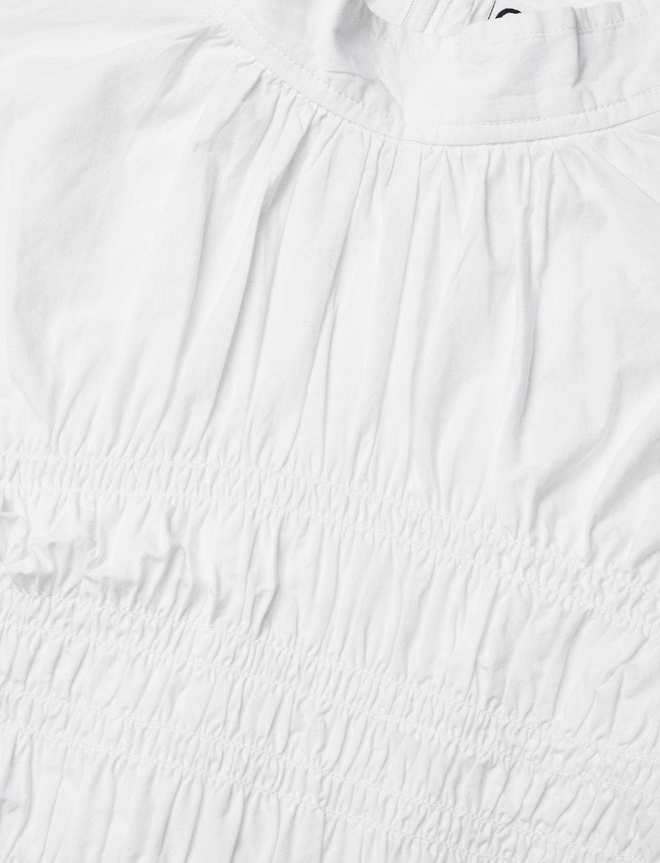 Ganni - Smock Blouse - langærmede bluser - bright white - 2