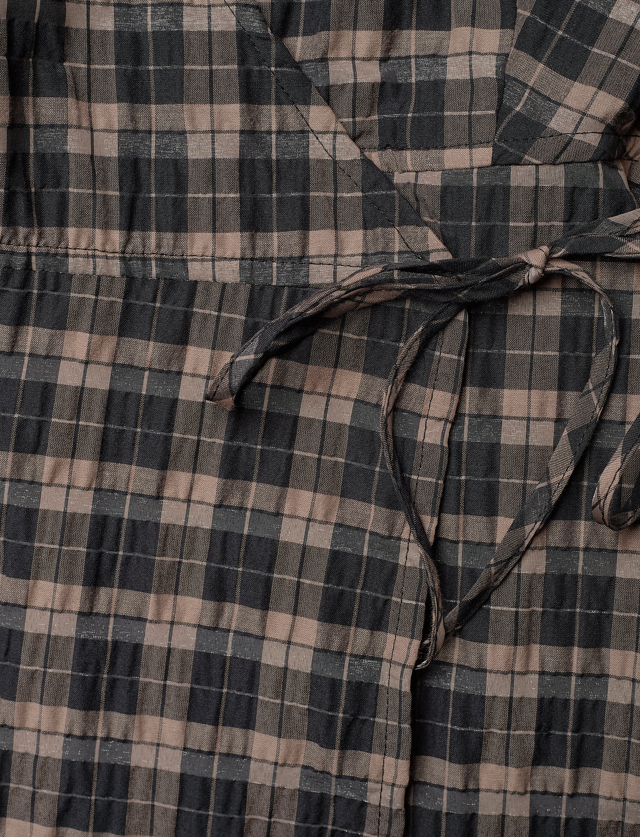 Ganni - Wrap Dress - hverdagskjoler - fossil - 3