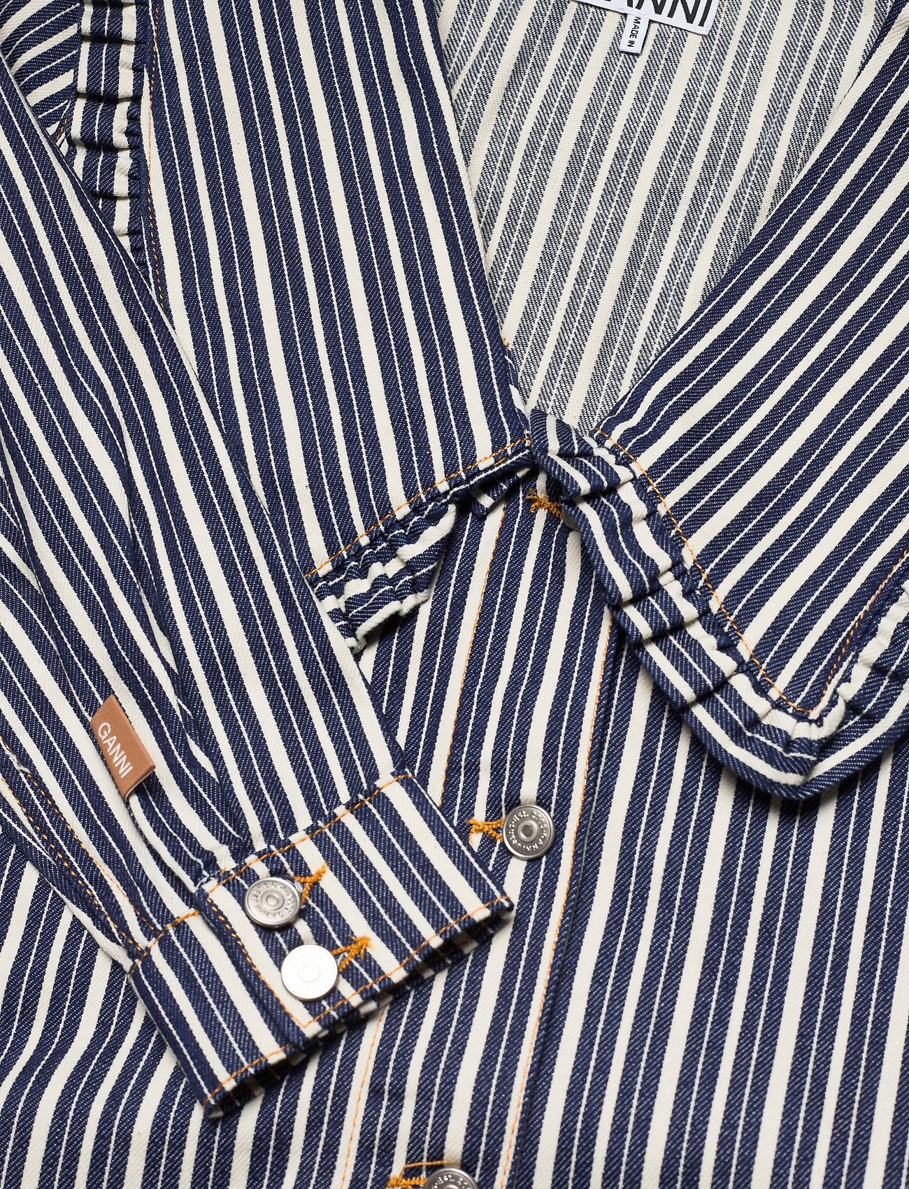Ganni - Loose Fit Shirt Dress - midi dresses - dark indigo - 2