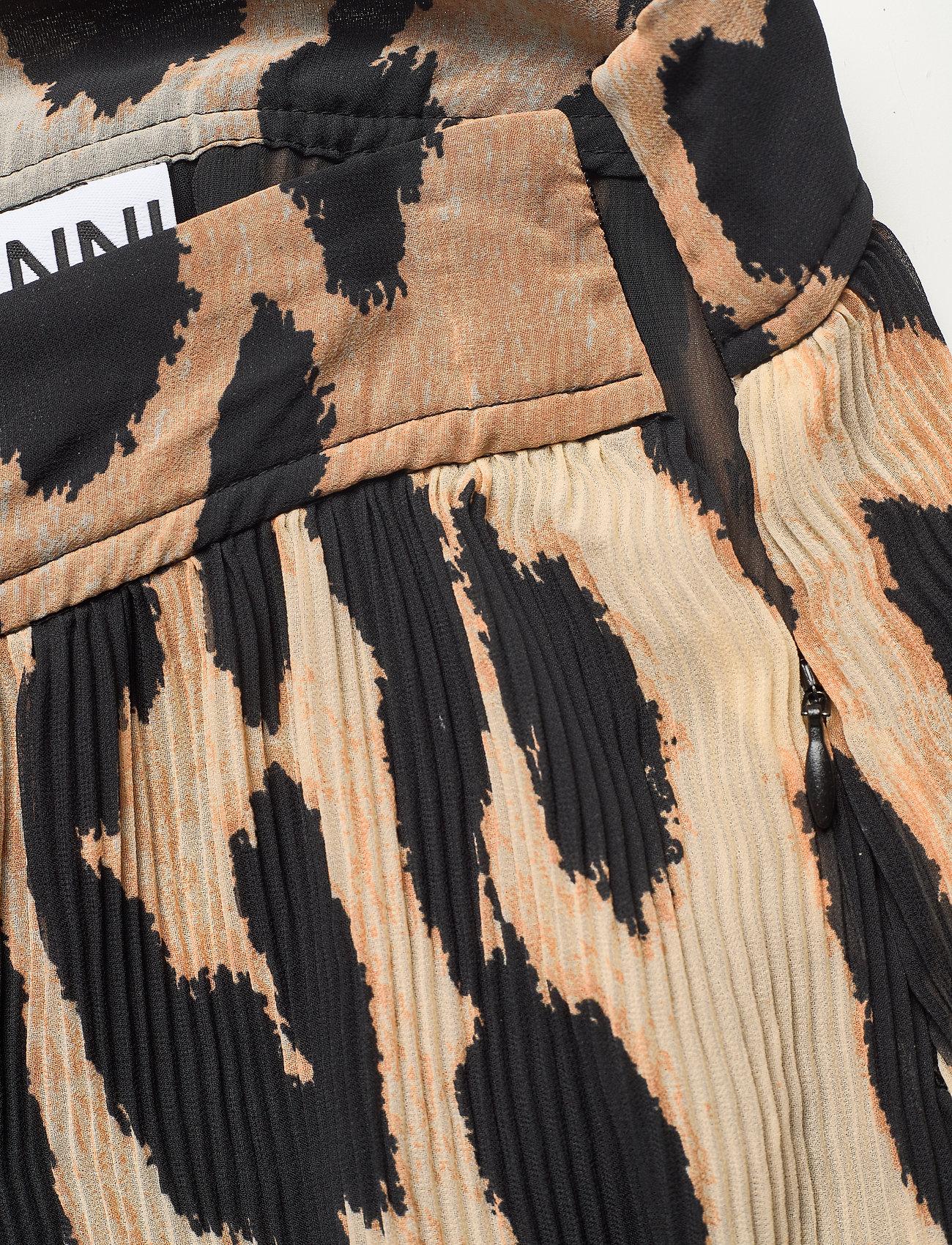 Ganni - Pleated Georgette - midi skirts - maxi leopard - 2