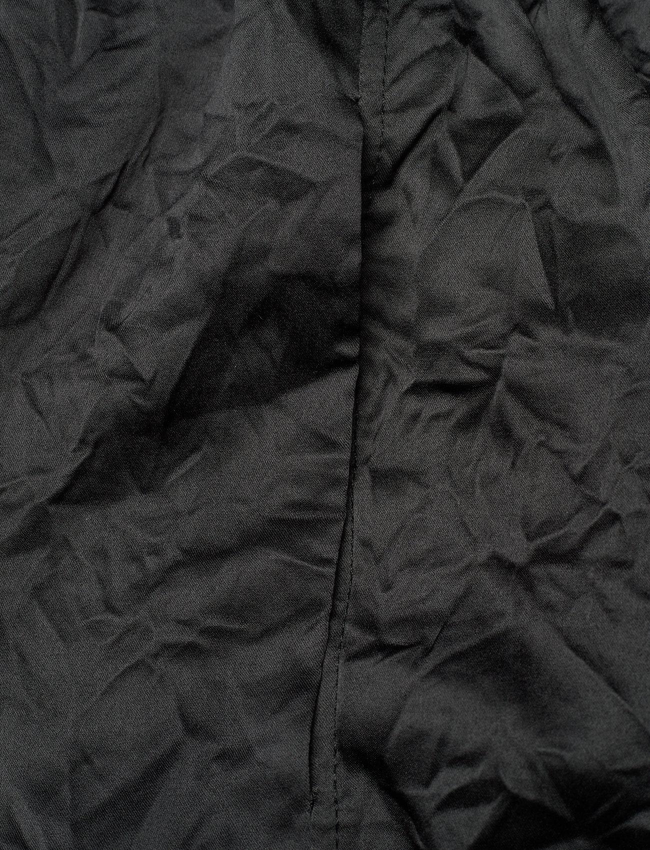 Ganni - Crinkled Satin - tøj - black - 3