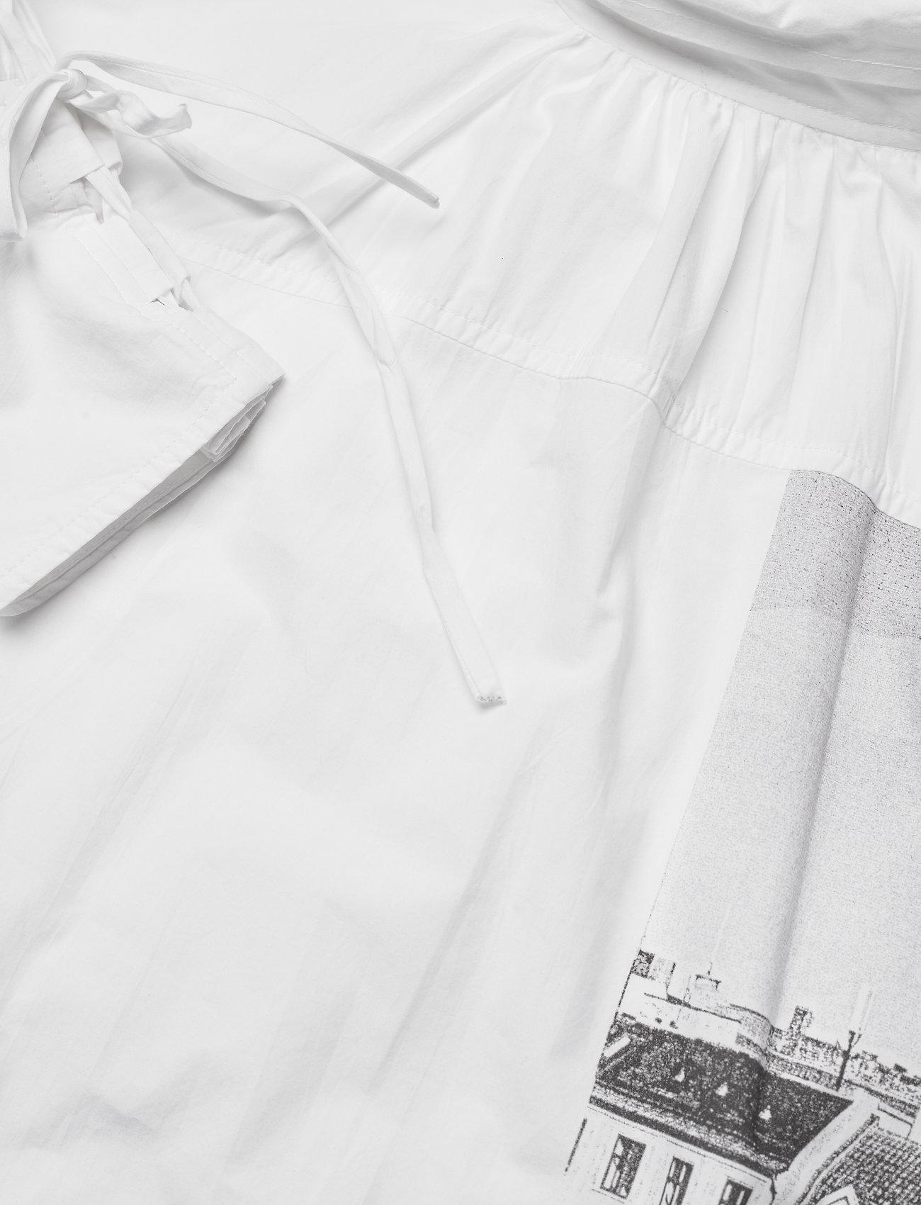 Ganni - Printed Cotton Poplin - sommerkjoler - sharkskin - 4