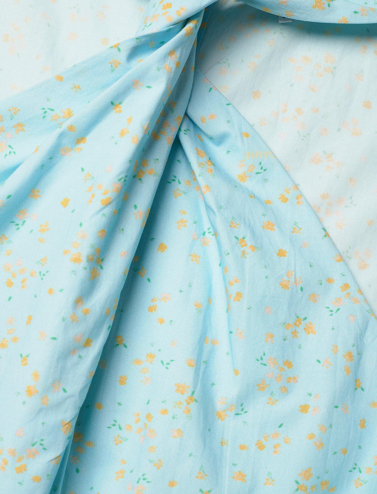 Ganni - Printed Cotton Poplin - sommerkjoler - corydalis blue - 2