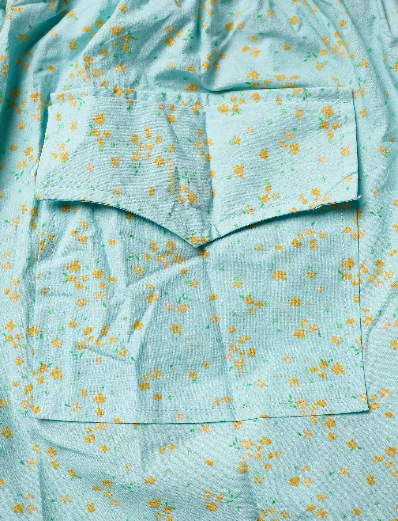 Ganni - Printed Cotton Poplin - casual shorts - corydalis blue - 4