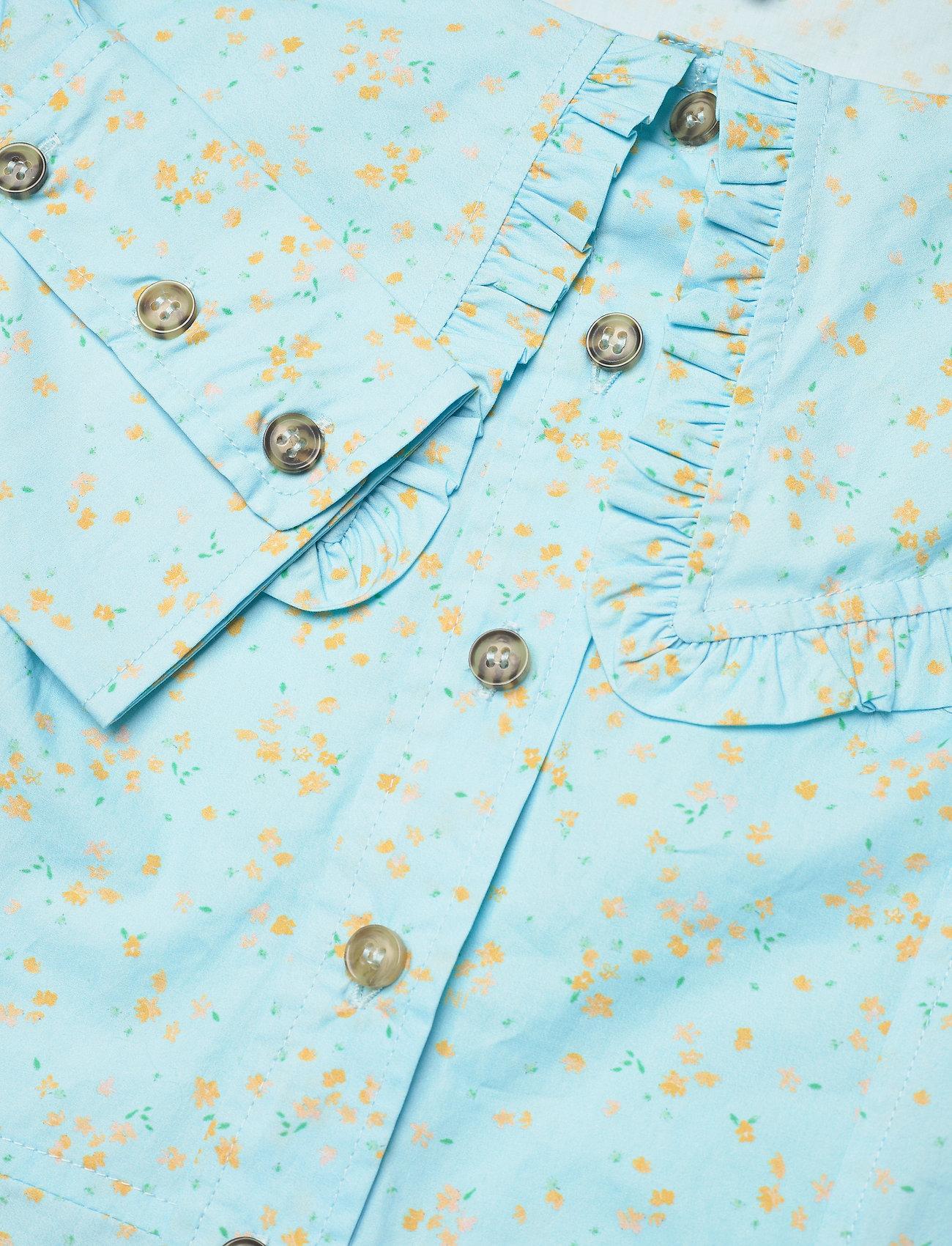 Ganni - Printed Cotton Poplin - sommerkleider - corydalis blue - 2