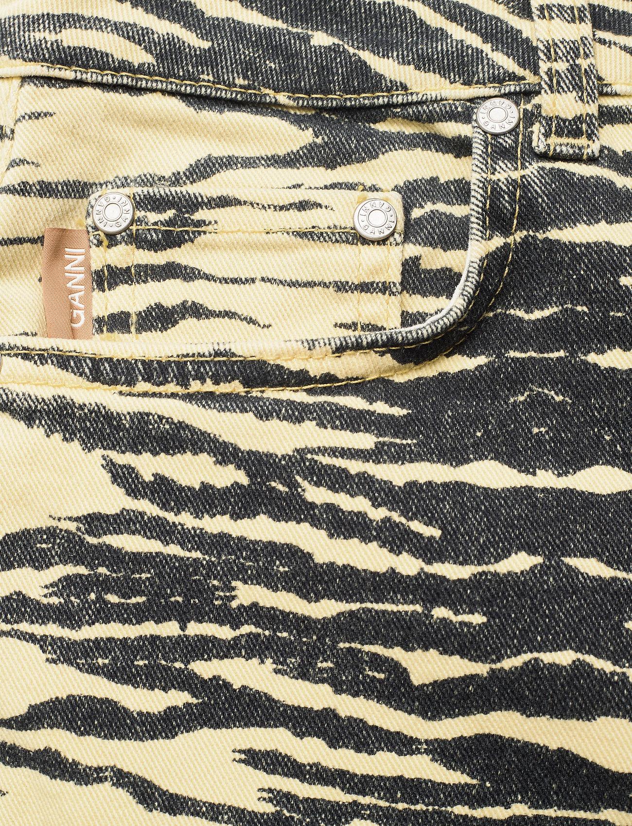Ganni - Print Denim - boot cut jeans - pale banana - 2