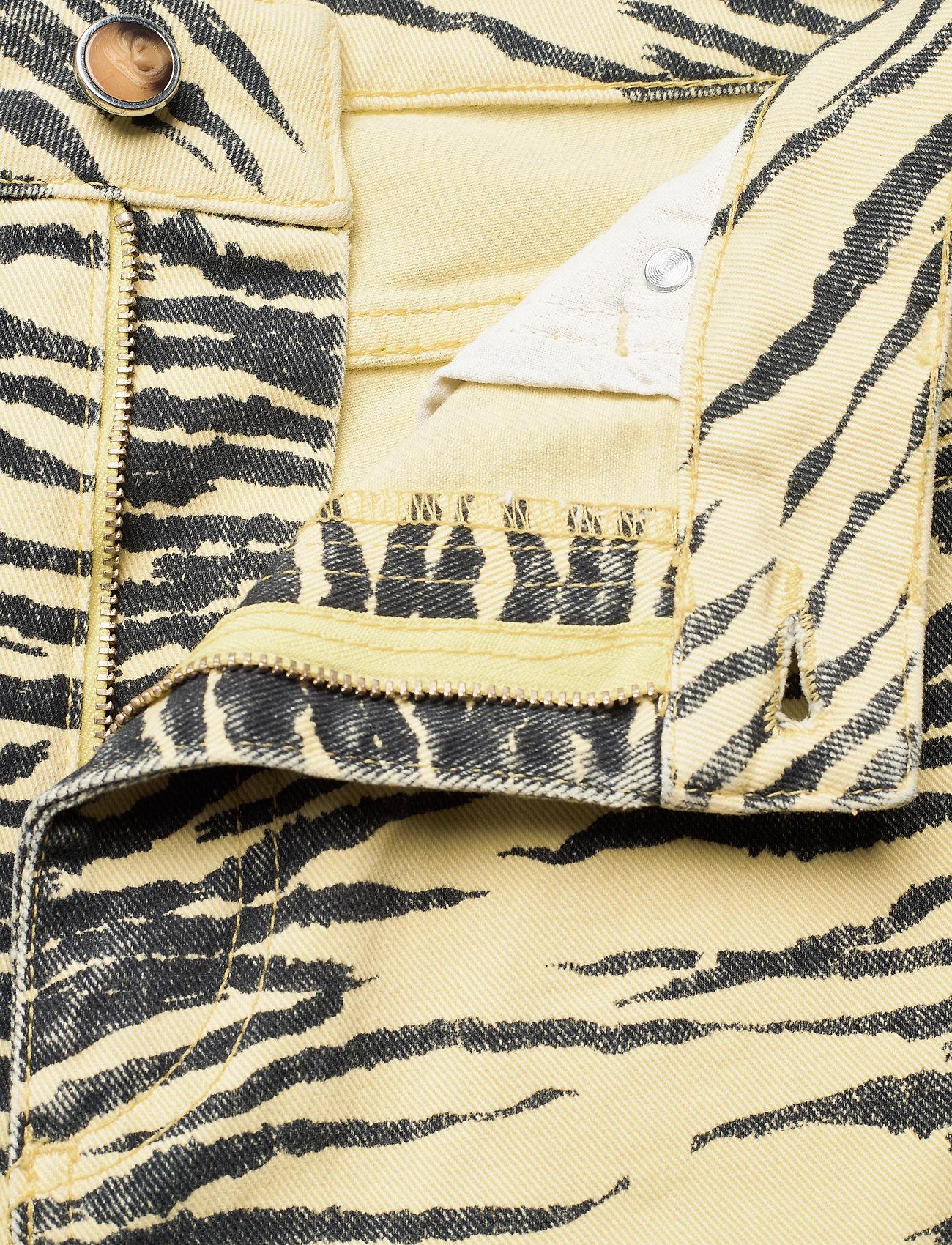 Ganni - Print Denim - boot cut jeans - pale banana - 3