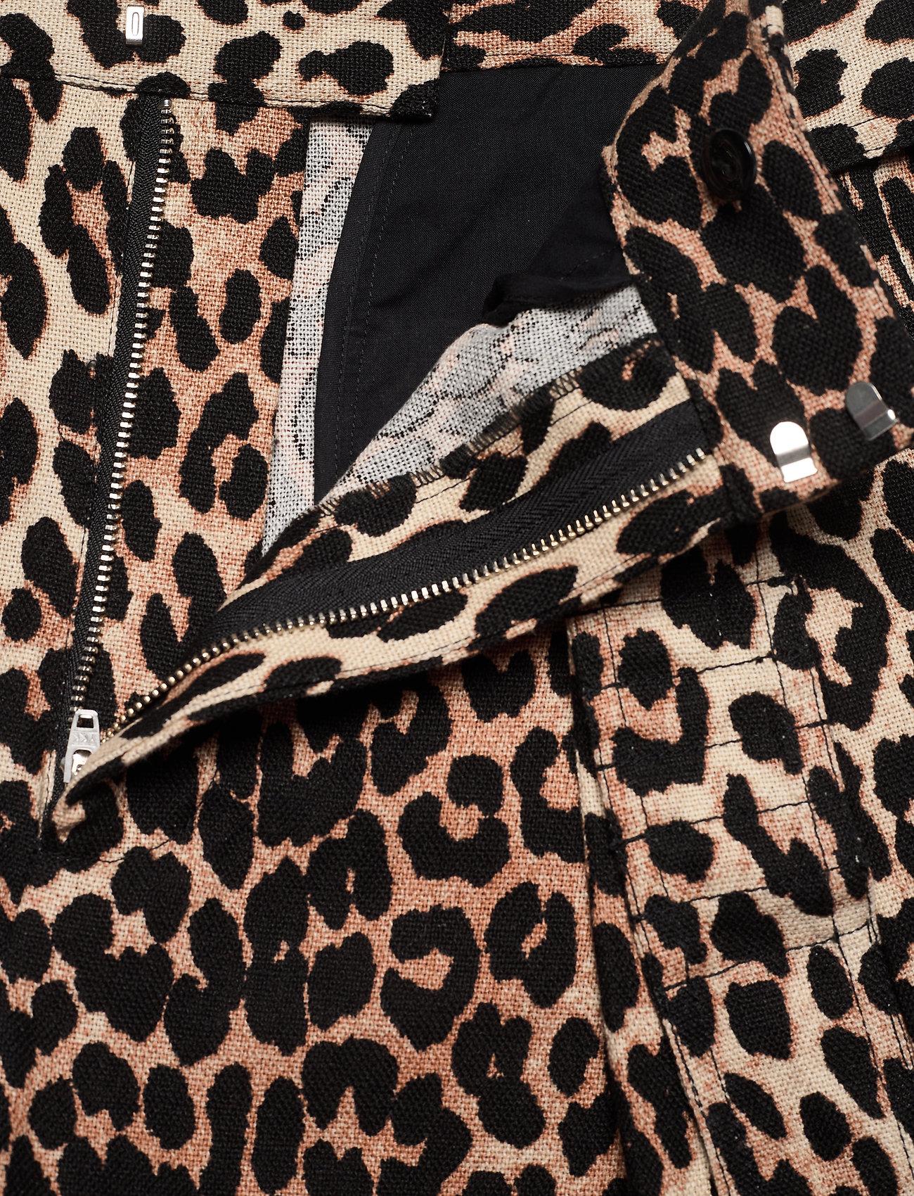 Ganni - Linen Canvas - casual shorts - leopard - 3