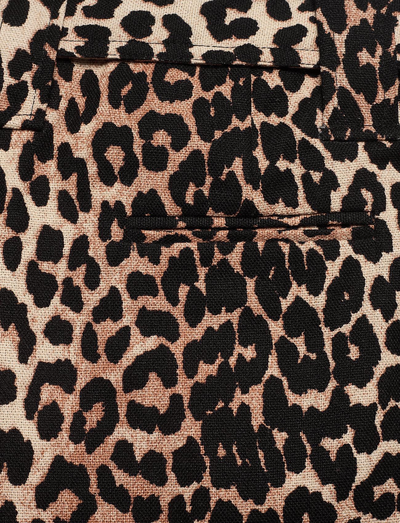 Ganni - Linen Canvas - casual shorts - leopard - 4