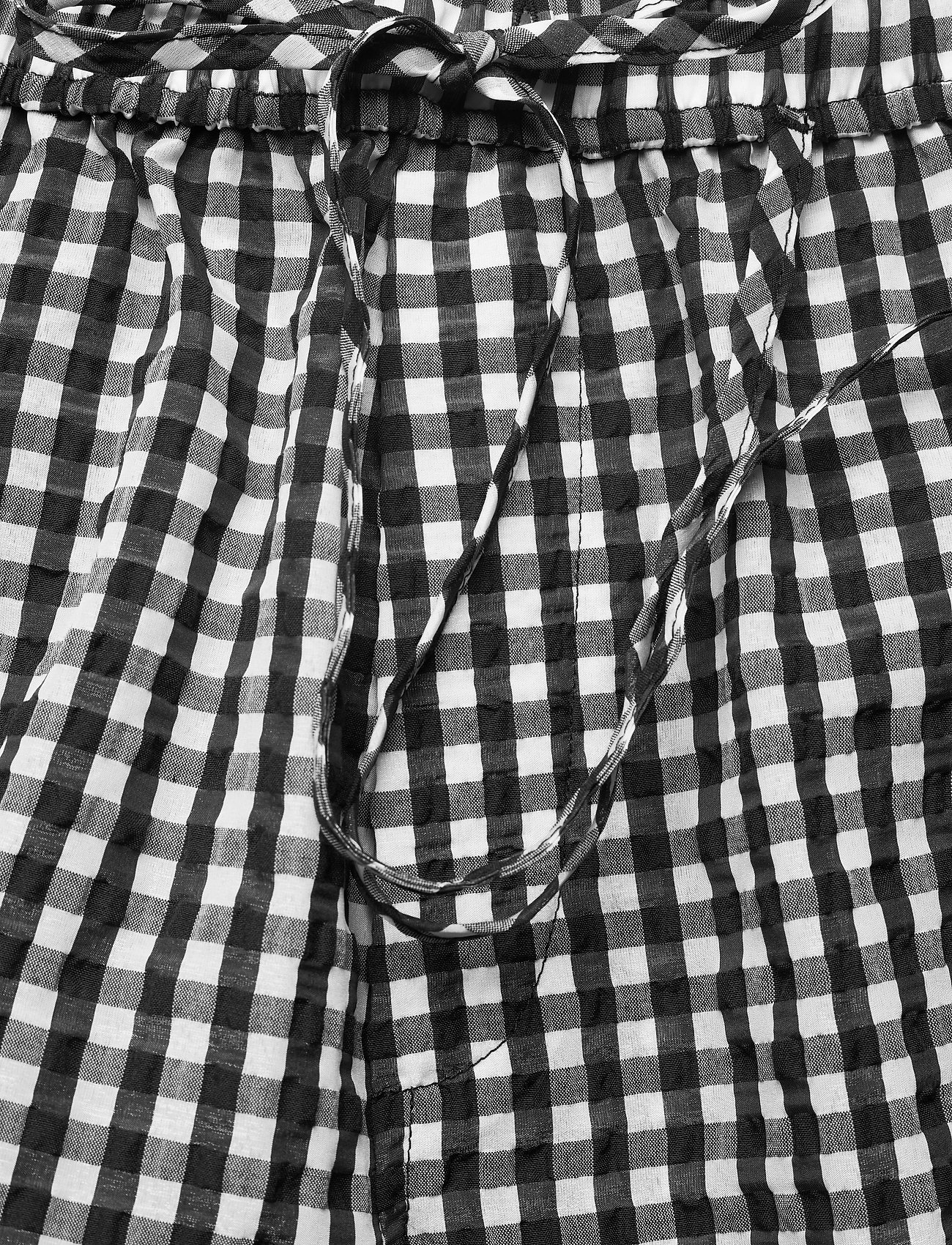 Ganni - Seersucker check - casual korte broeken - black - 3