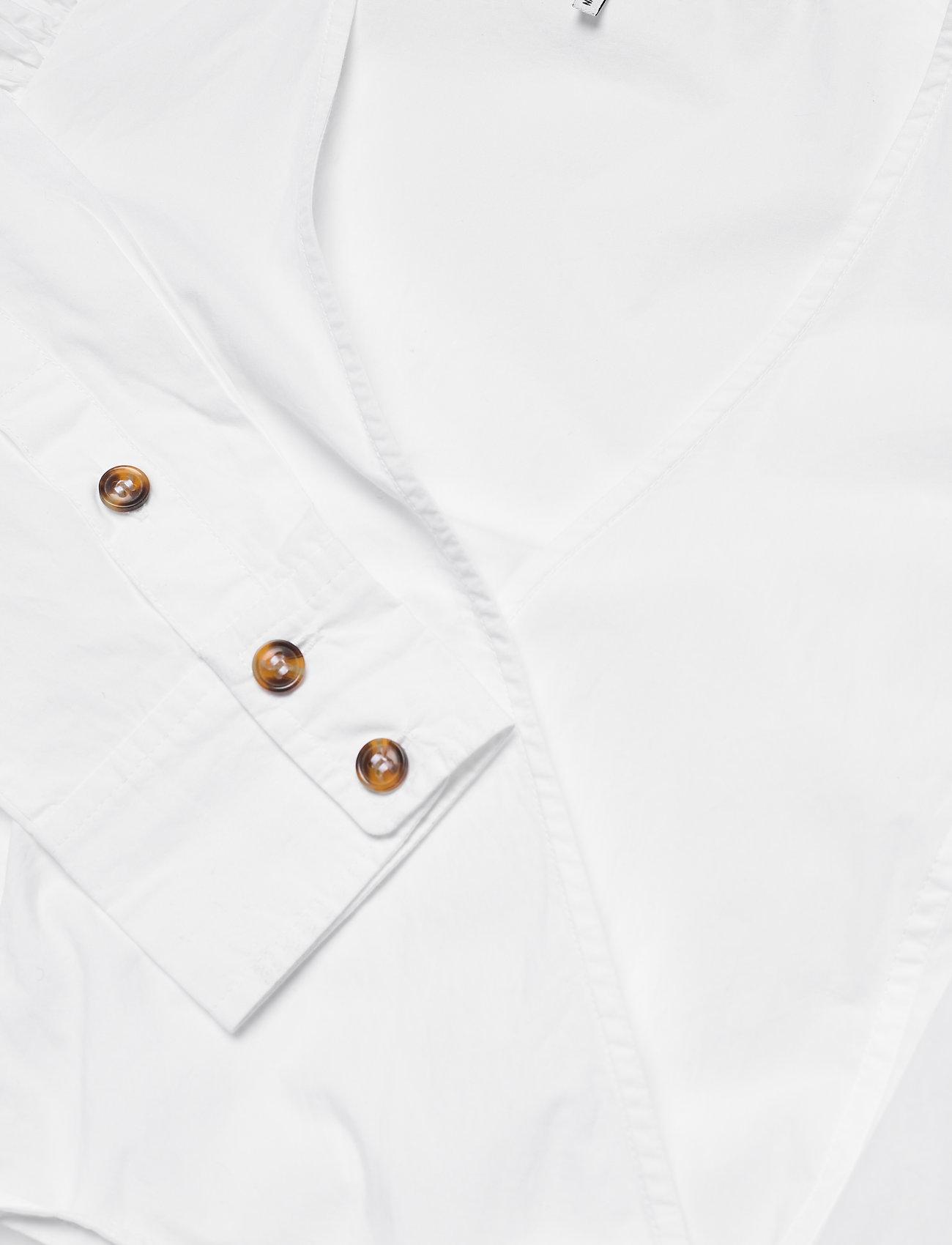 Ganni - Cotton Poplin - langærmede bluser - bright white - 2