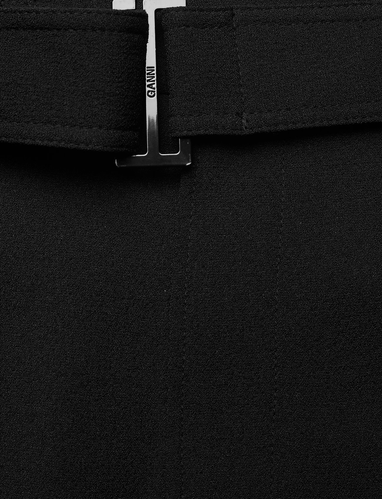 Ganni - Heavy Crepe - straight leg trousers - black - 3