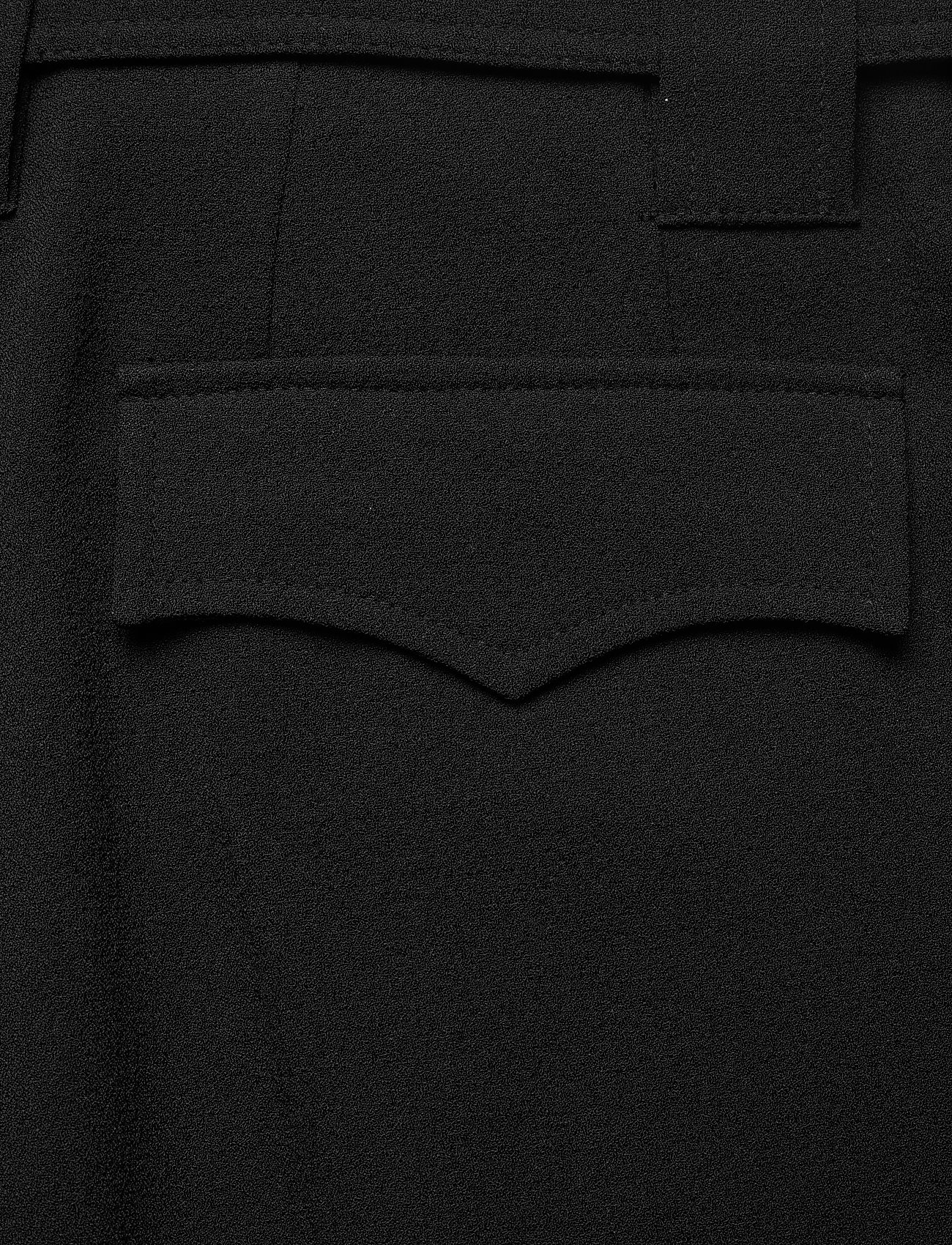 Ganni - Heavy Crepe - straight leg trousers - black - 5