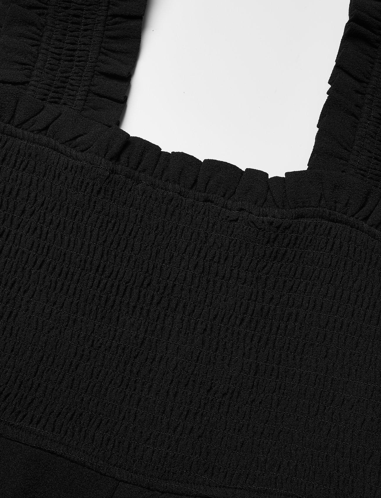 Ganni - Heavy Crepe - evening dresses - black - 2