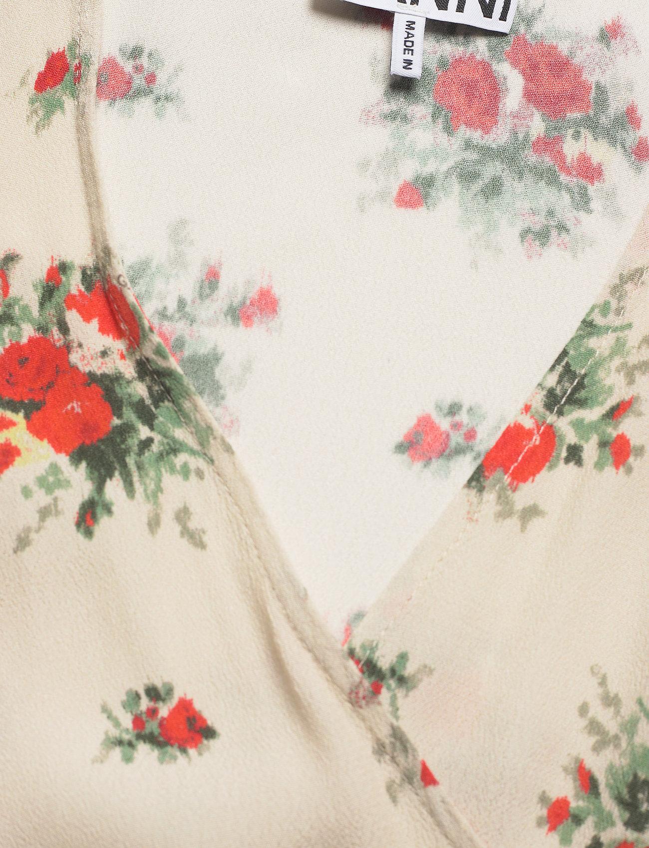Ganni - Printed Crepe - langærmede bluser - tapioca - 2