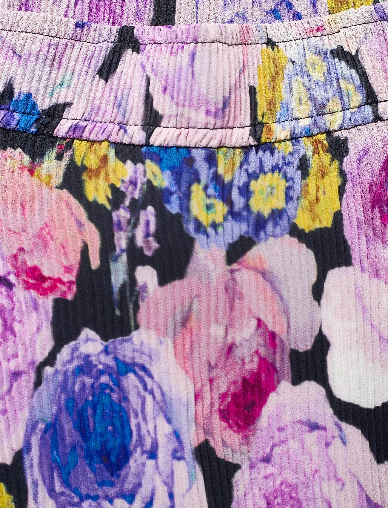 Ganni - Pleated Georgette - midi skirts - multicolour - 2