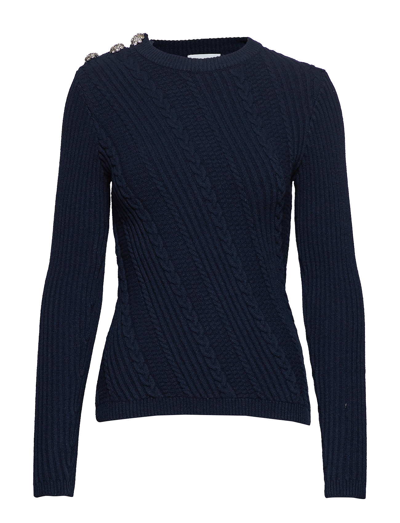 Ganni Cotton Knit Pullover - TOTAL ECLIPSE
