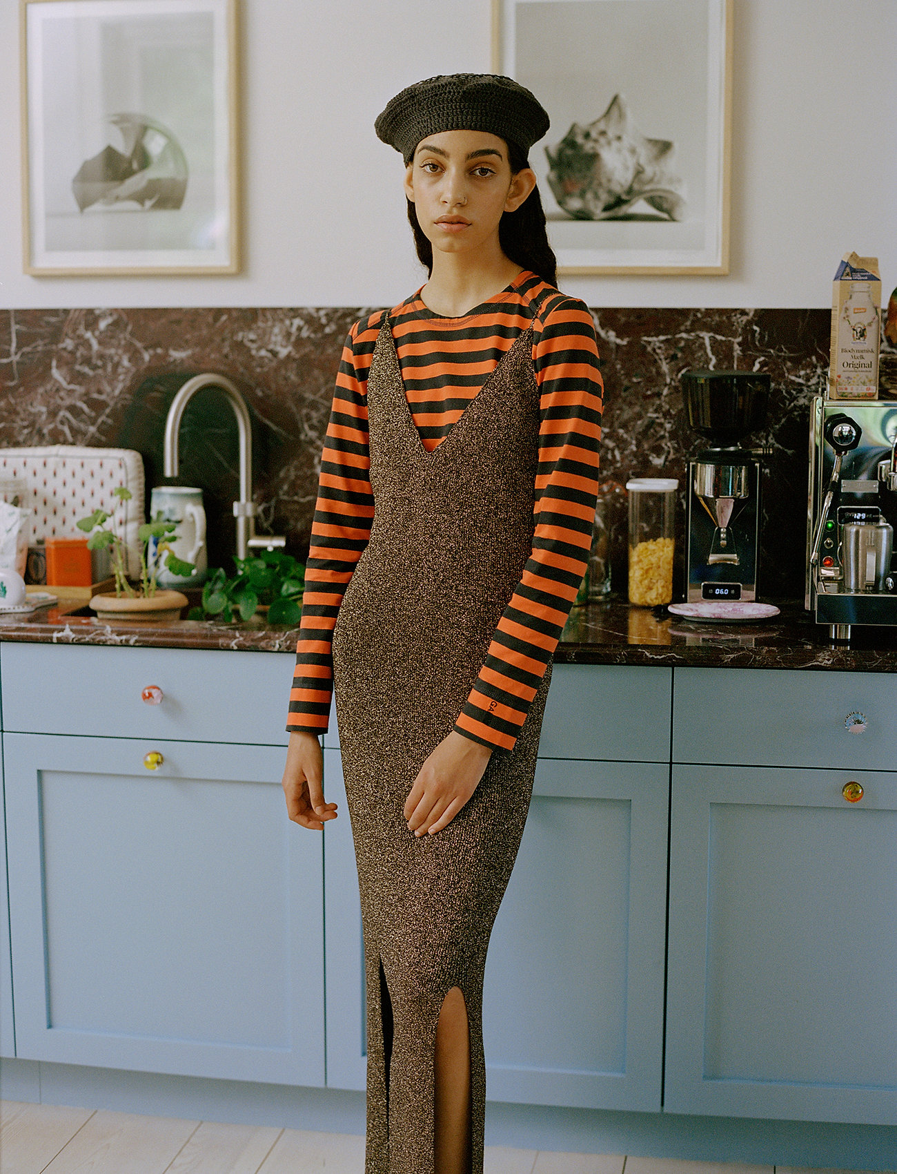 Ganni - Glitter Knit - evening dresses - mole - 0