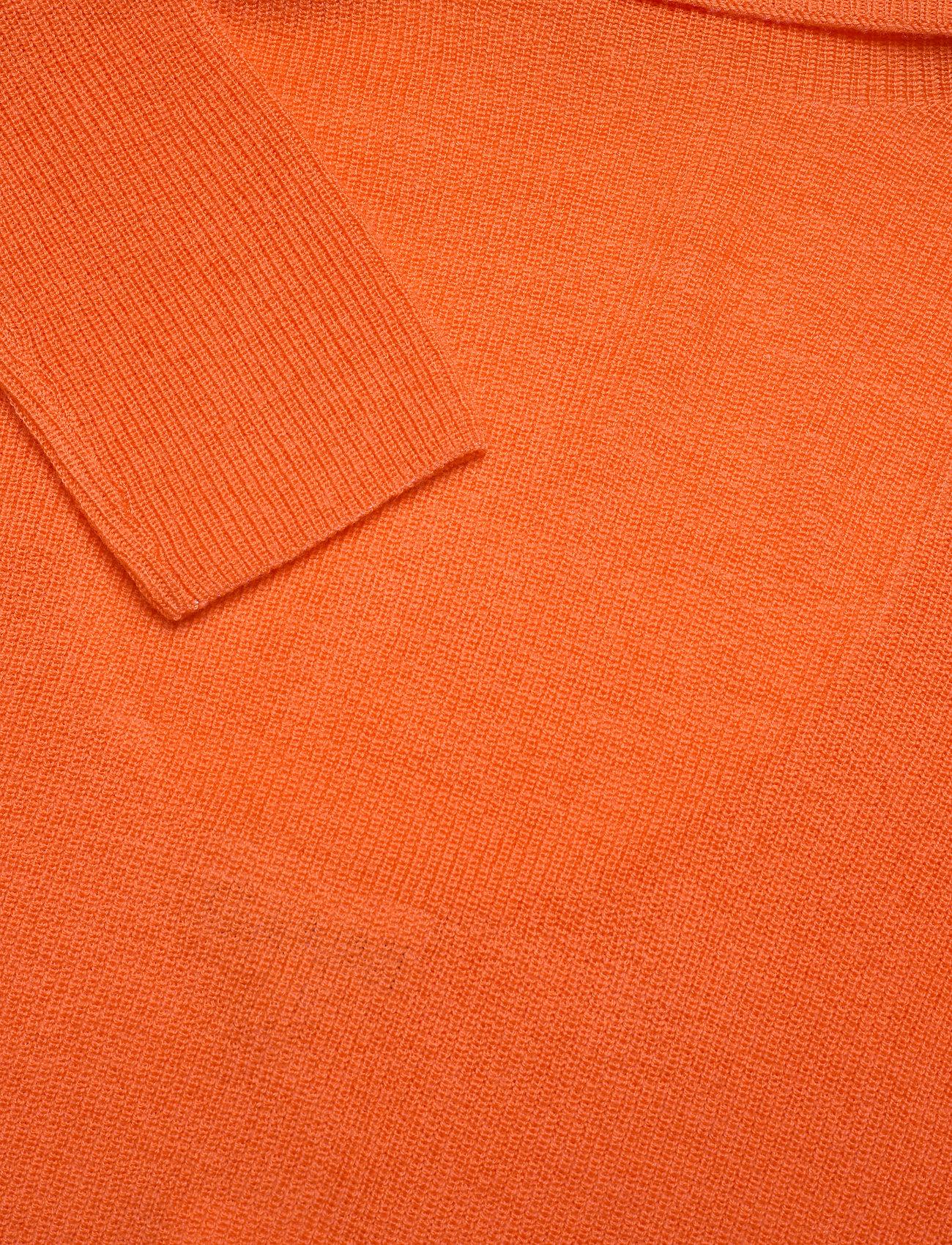 Ganni - Light Merino Knit - rullekraver - flame - 2