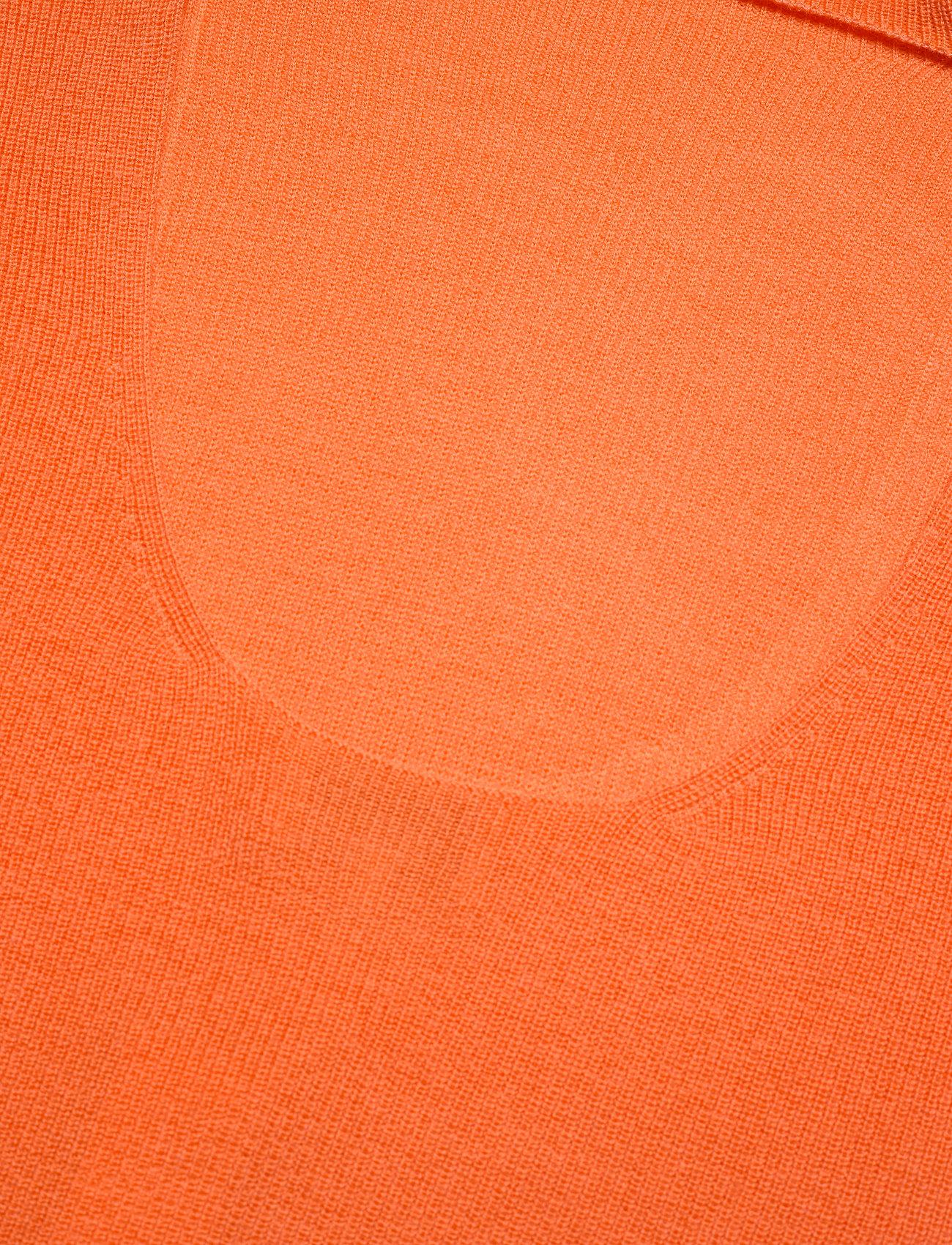 Ganni - Light Merino Knit - rullekraver - flame - 3