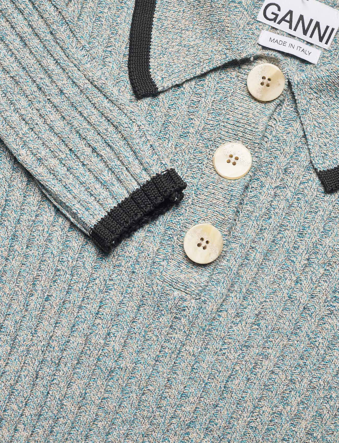 Ganni - Linen Knit - trøjer - bachelor blue - 2