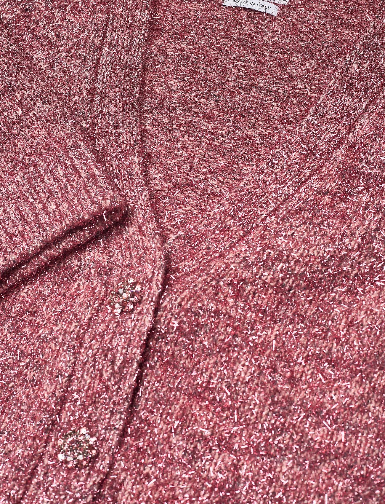 Ganni - Chunky Glitter Knit - cardigans - pink nectar - 2