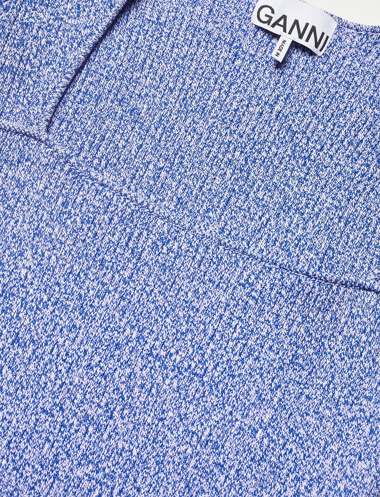 Ganni - Melange Knit - kortærmede bluser - daphne - 2