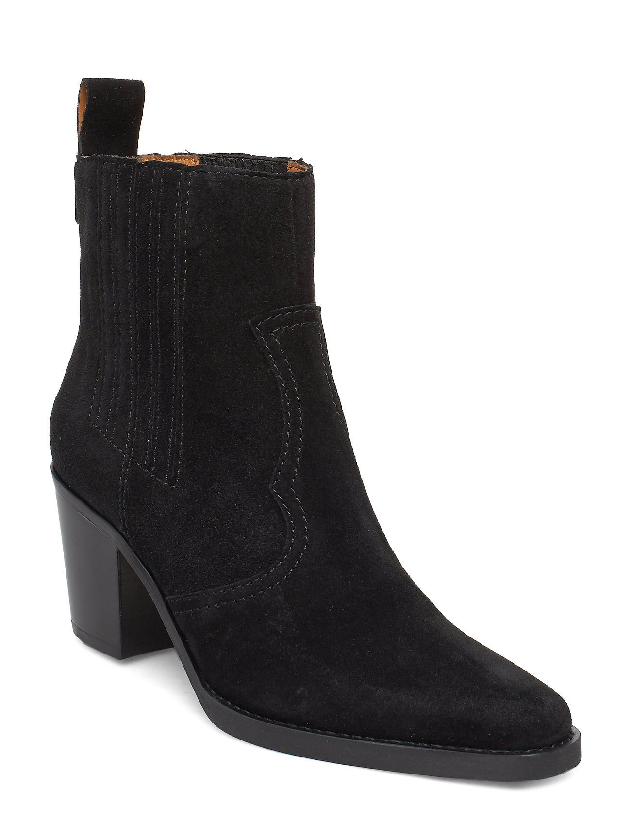 Image of Western Ankle Boots Shoes Boots Ankle Boots Ankle Boots With Heel Sort Ganni (3353812967)
