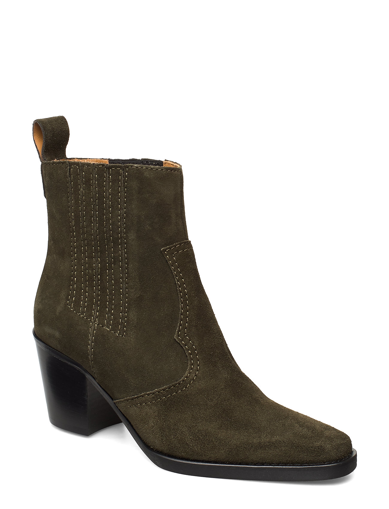 Image of Western Ankle Boots Shoes Boots Ankle Boots Ankle Boot - Heel Grøn Ganni (3288857677)