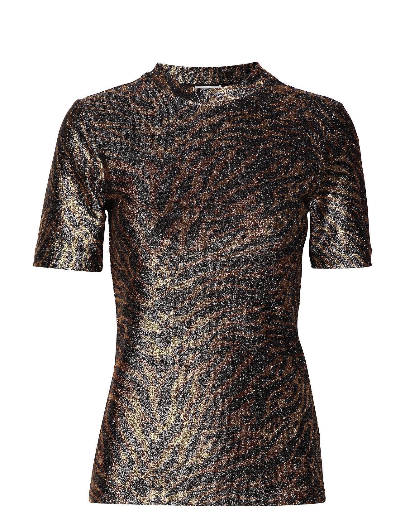 Ganni Lurex Jersey T-shirt
