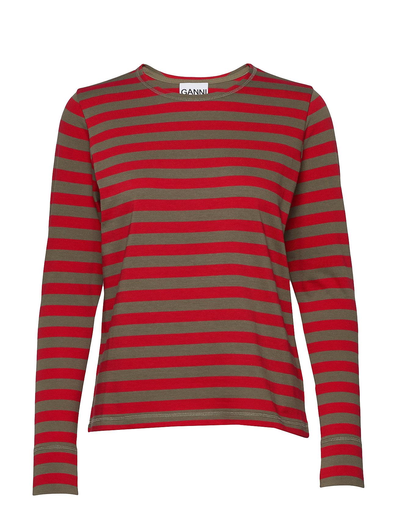 Ganni Striped Cotton Jersey - SAMBA