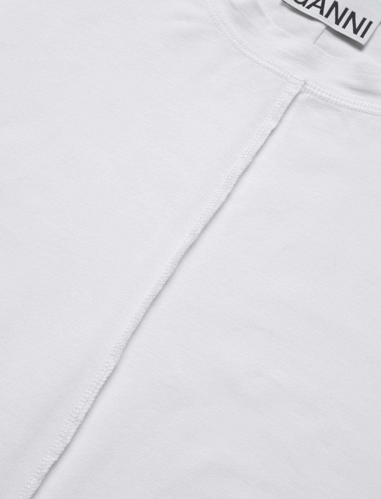 Ganni Light Stretch Jersey - T-shirts & Toppar Bright White