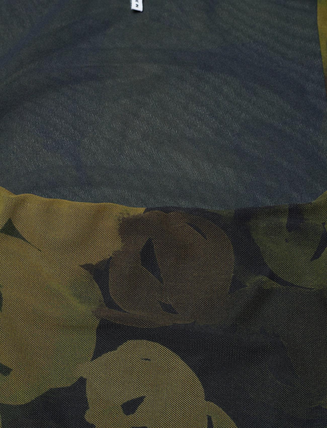 Ganni - Printed Mesh - stramme kjoler - olive drab - 2