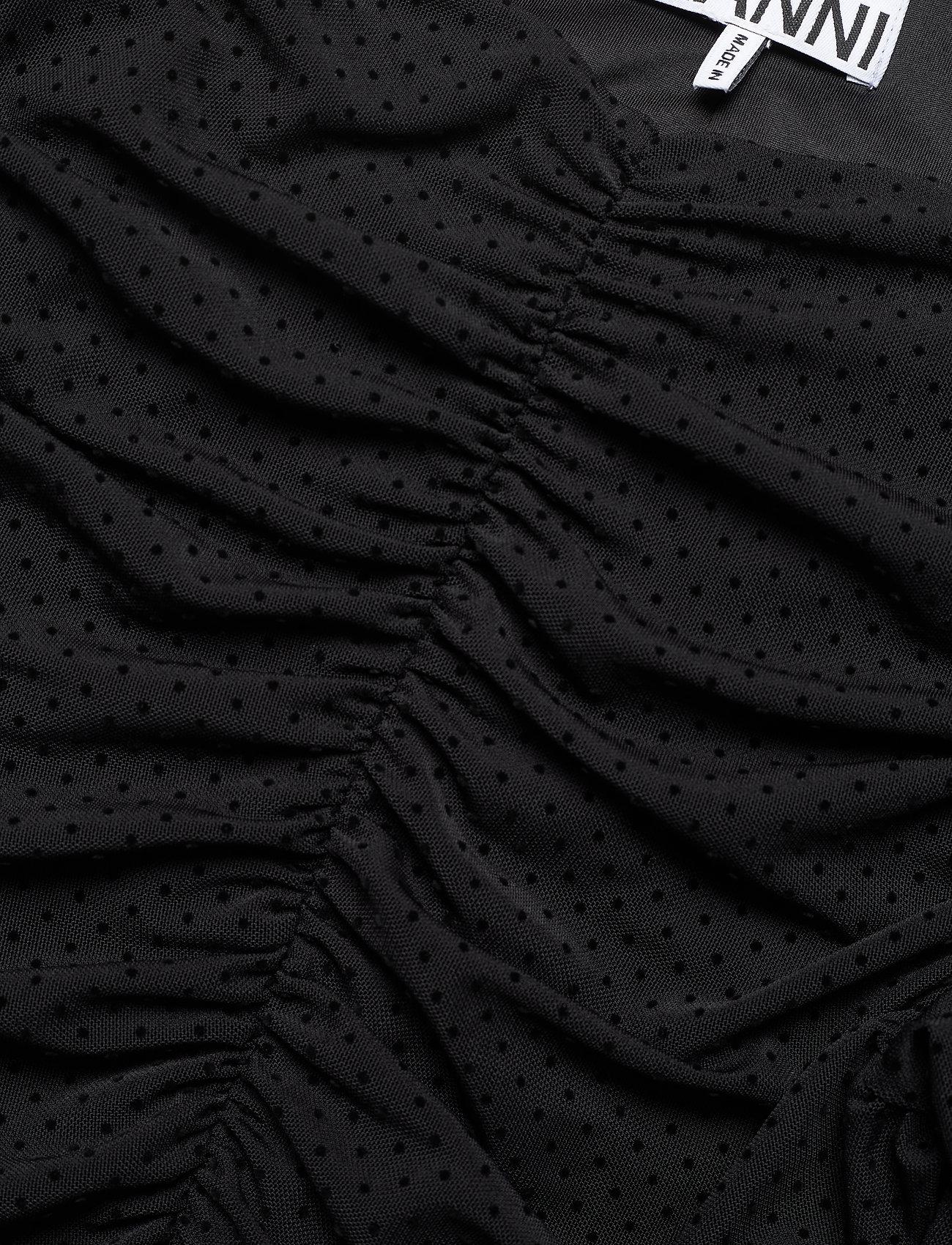 Ganni - Dotted Mesh - cocktailkjoler - black - 2