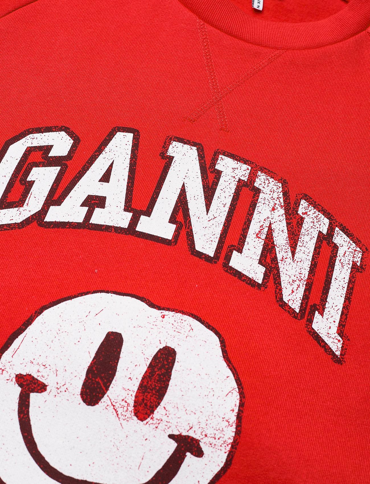 Ganni - Isoli - sweatshirts & hættetrøjer - flame scarlet - 2