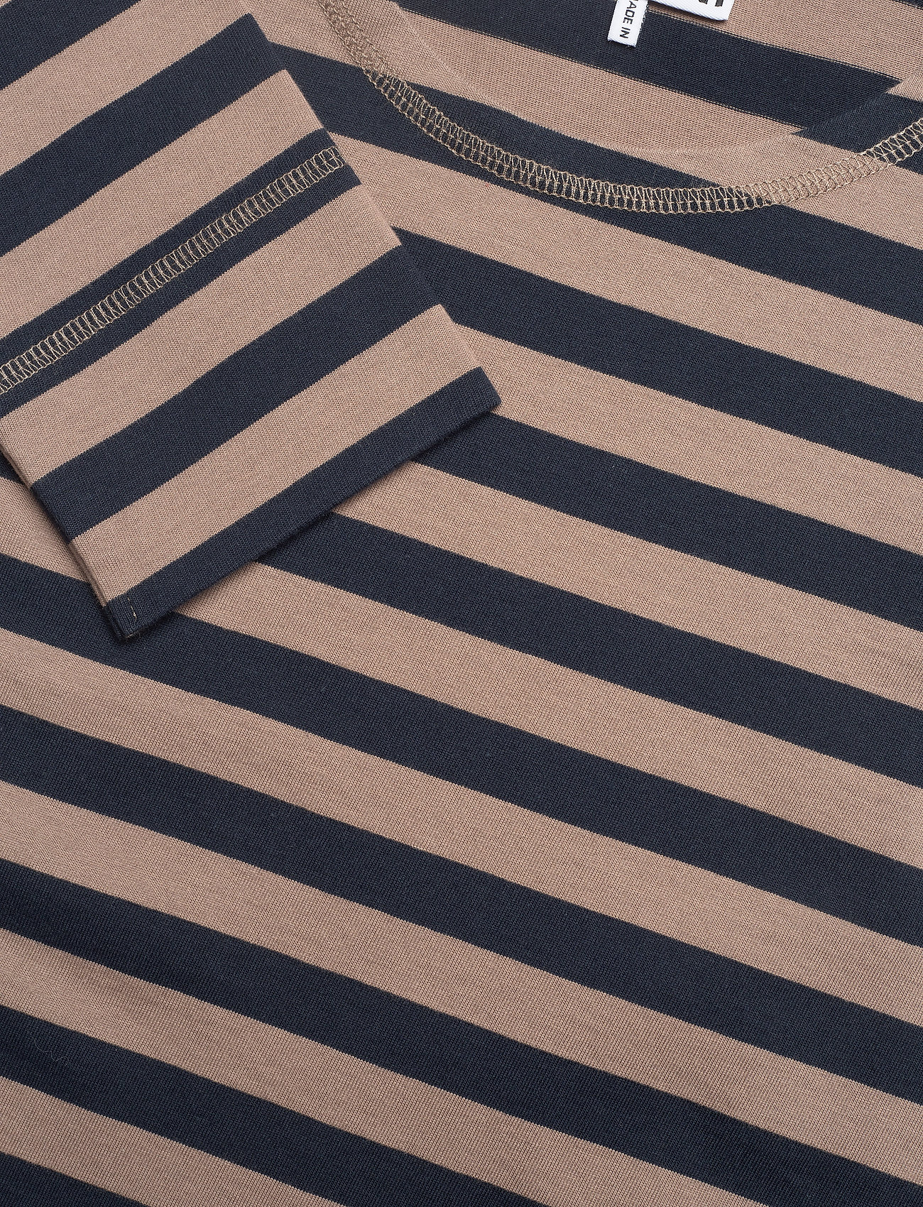 Ganni - Striped Cotton Jersey - langærmede toppe - sky captain - 2
