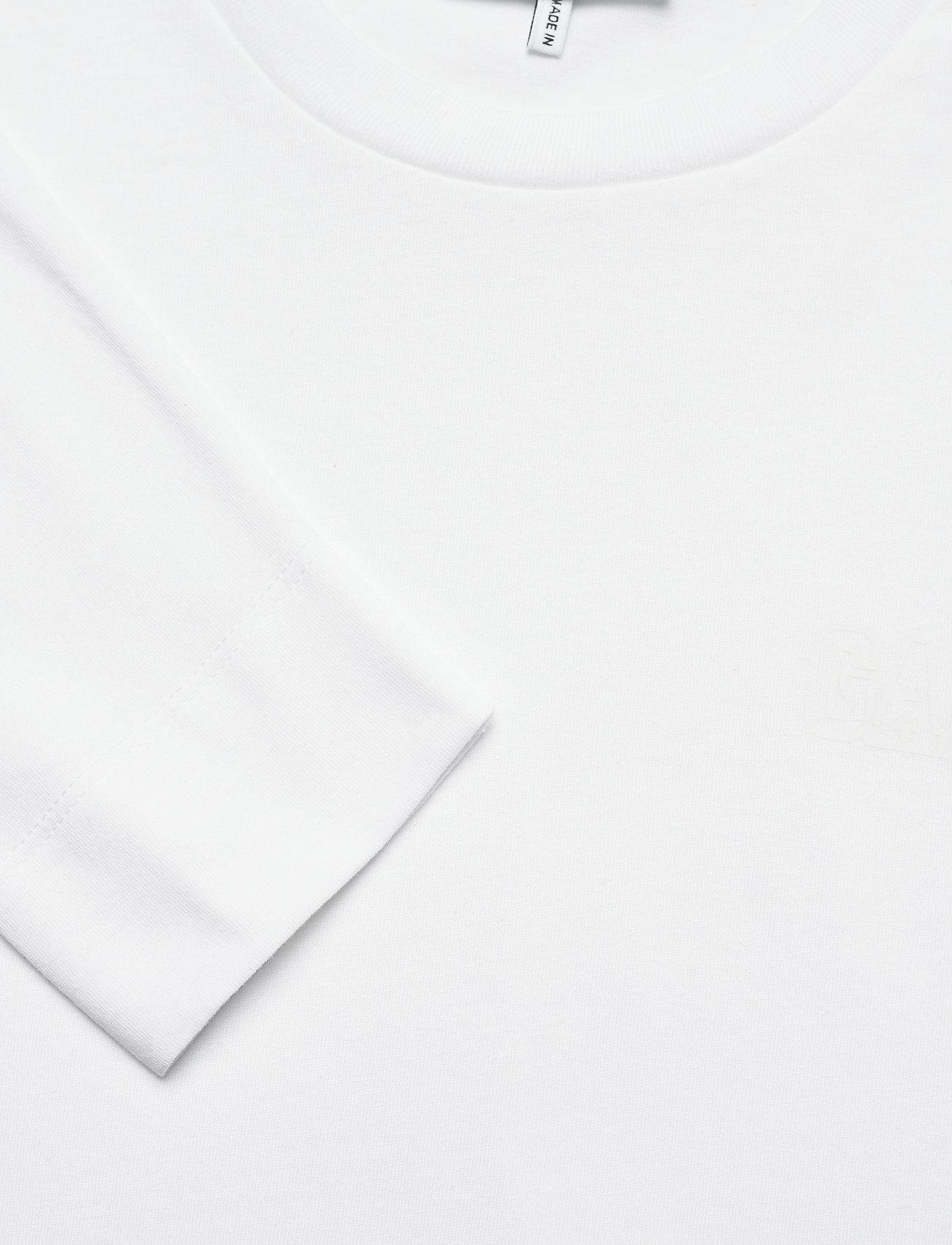 Ganni - Thin Software Jersey - langærmede toppe - white - 2