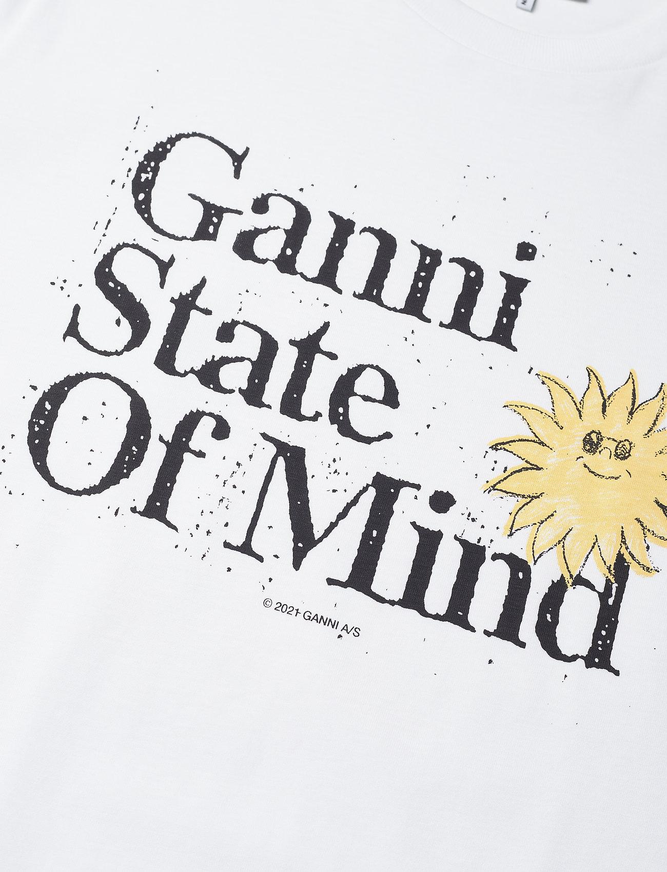 Ganni - Basic Cotton Jersey - t-shirts - bright white - 2