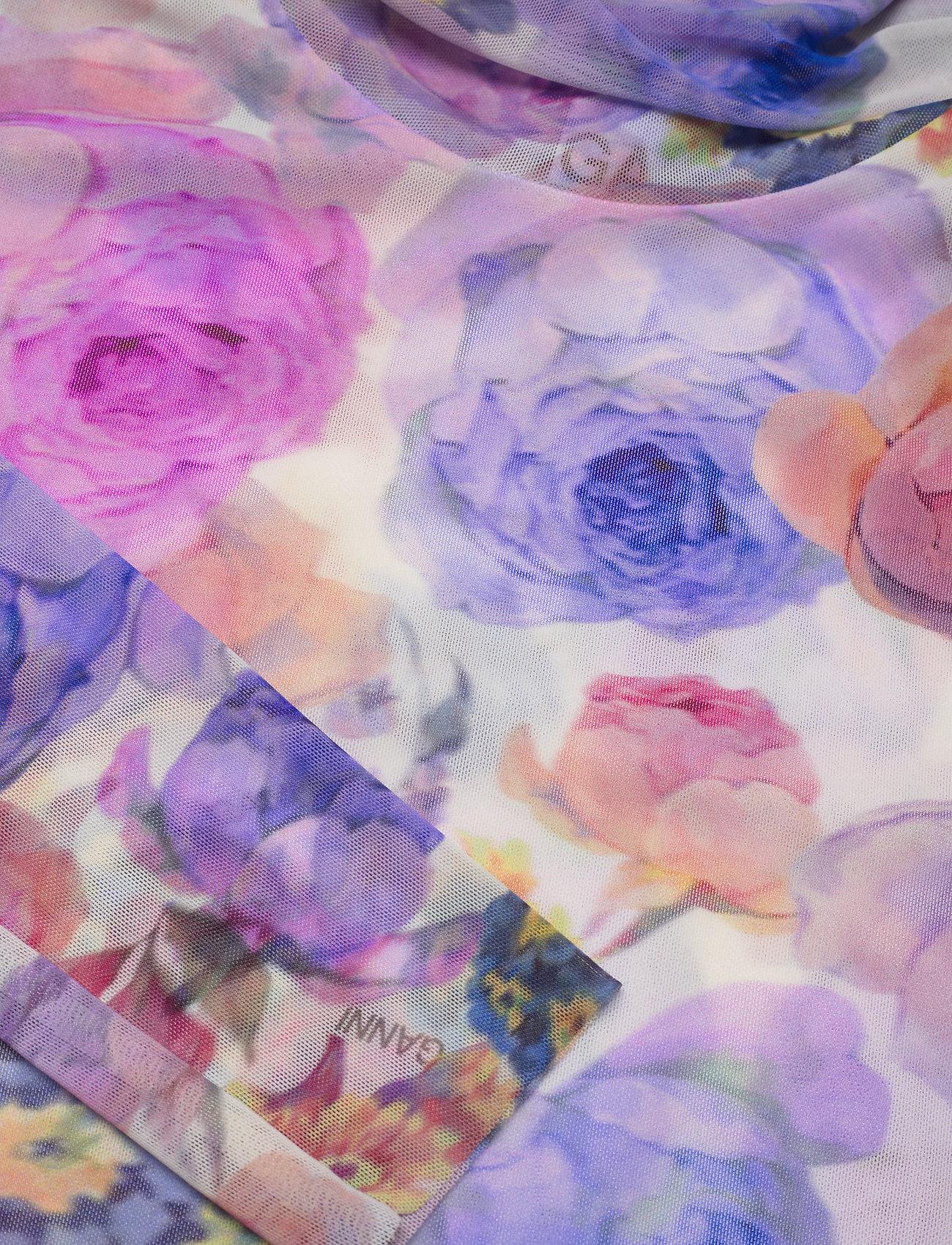 Ganni - Printed Mesh - langærmede toppe - multicolour - 2