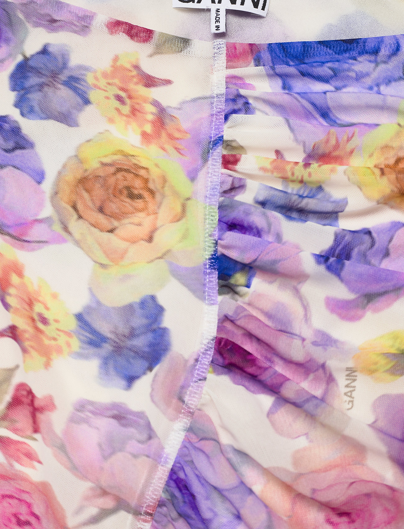 Ganni - Printed Mesh - stramme kjoler - multicolour - 2
