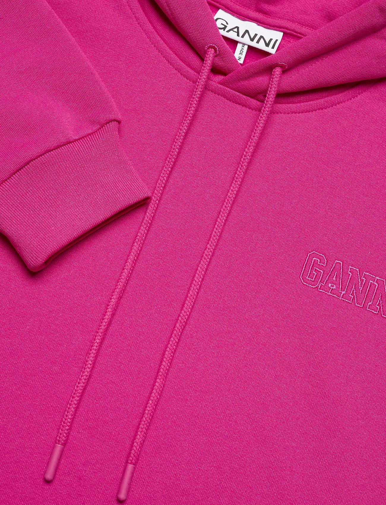 Ganni - Software Isoli - sweatshirts & hoodies - shocking pink - 4
